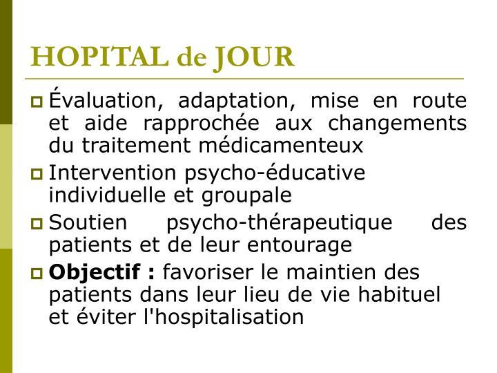 HOPITAL de JOUR