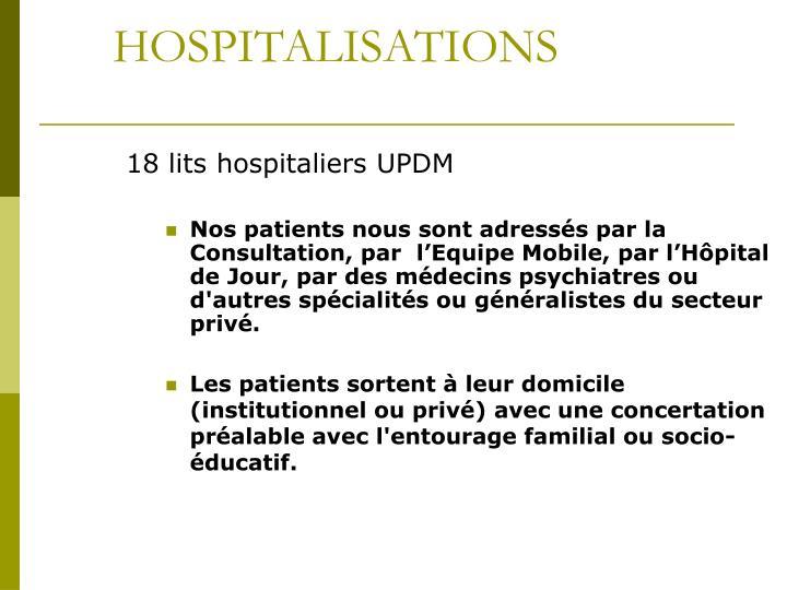 HOSPITALISATIONS