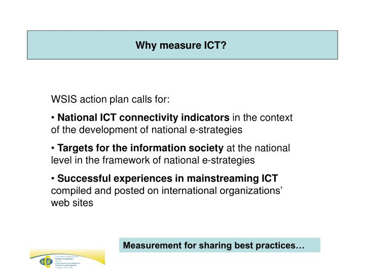 Why measure ICT?