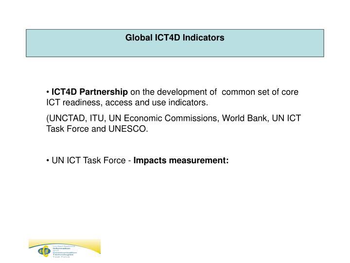 Global ICT4D Indicators