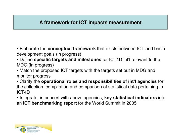 A framework for ICT impacts measurement