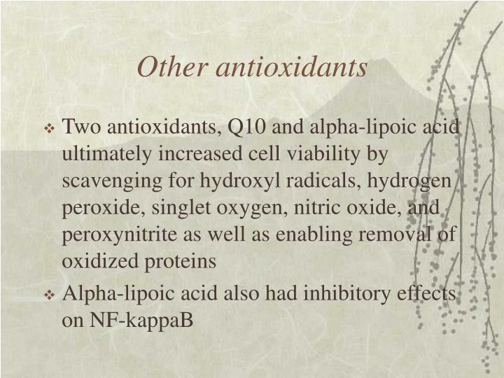 Other antioxidants