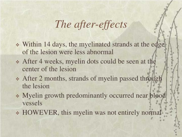 The after-effects