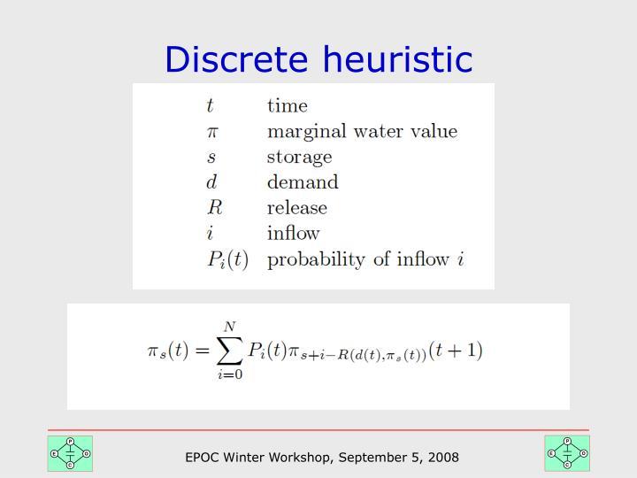 Discrete heuristic