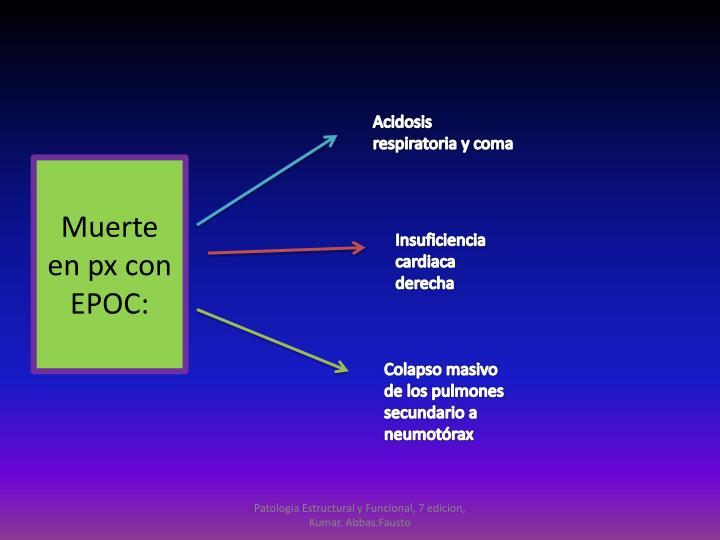 Acidosis respiratoria y coma