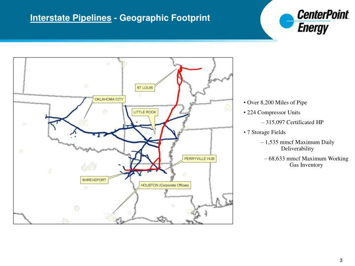 Interstate Pipelines