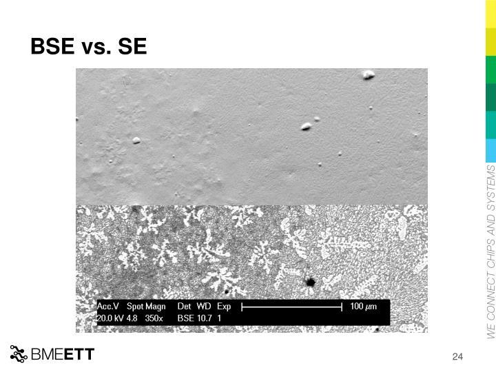 BSE vs. SE