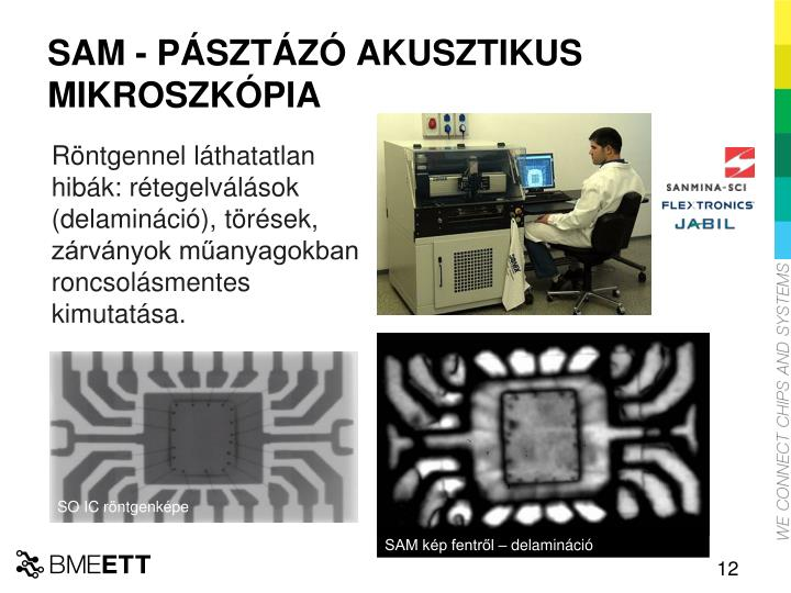 SAM - PÁSZTÁZÓ AKUSZTIKUS MIKROSZKÓPIA