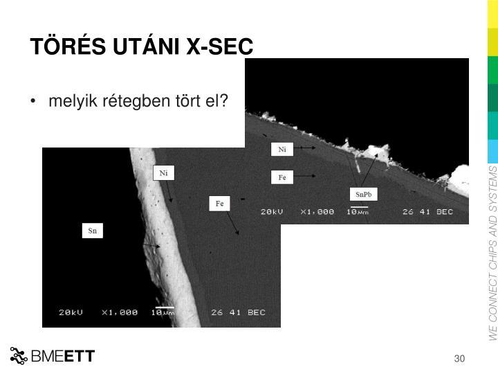 TÖRÉS UTÁNI X-SEC