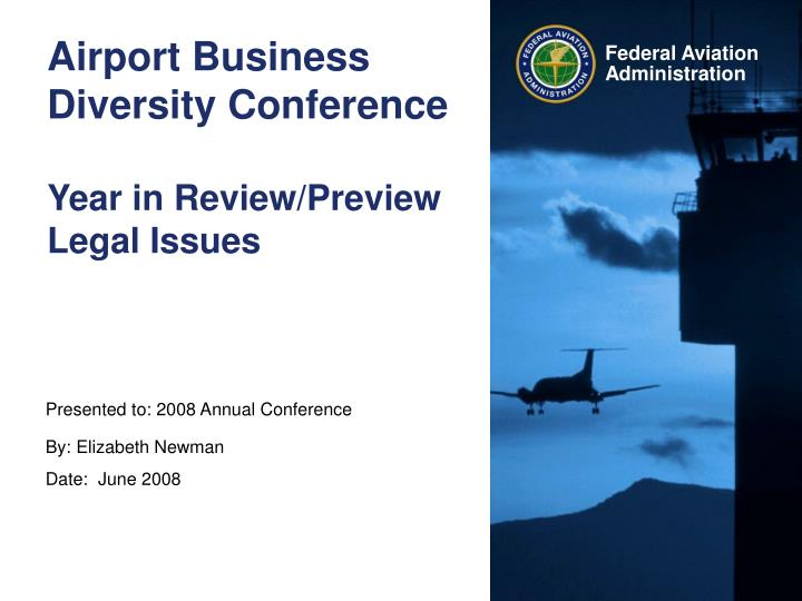 Airport business diversity conference year in review preview legal issues