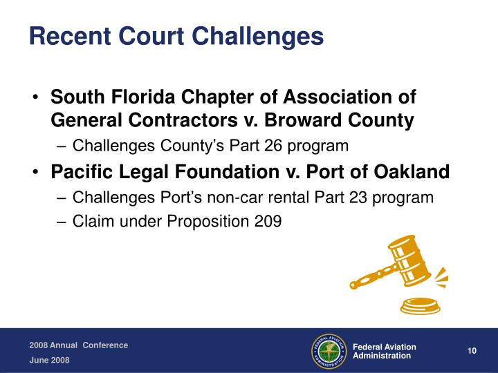 Recent Court Challenges