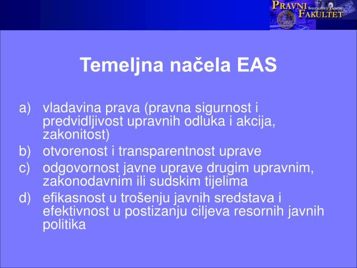 Temeljna načela EAS