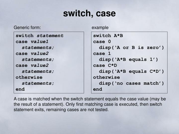 switch, case
