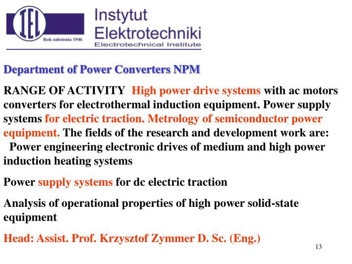 Department of Power Converters N