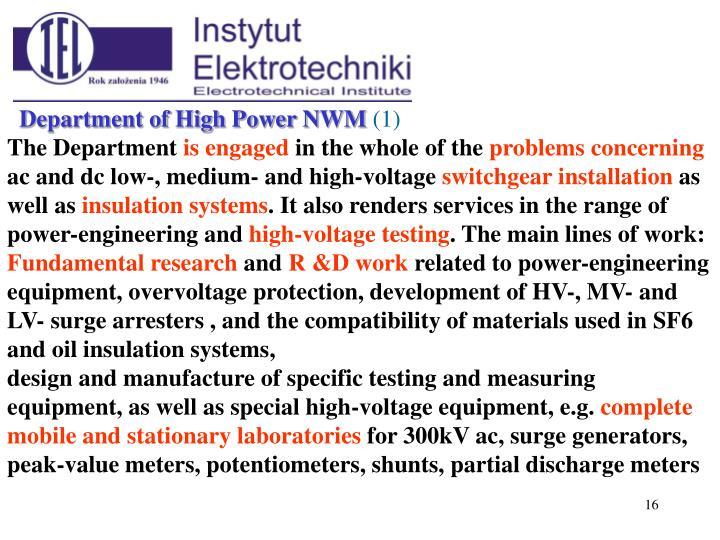 Department of High Power N
