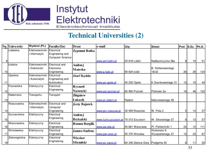 Technical Universities