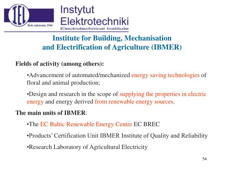 Institute for Building, Mechanisation