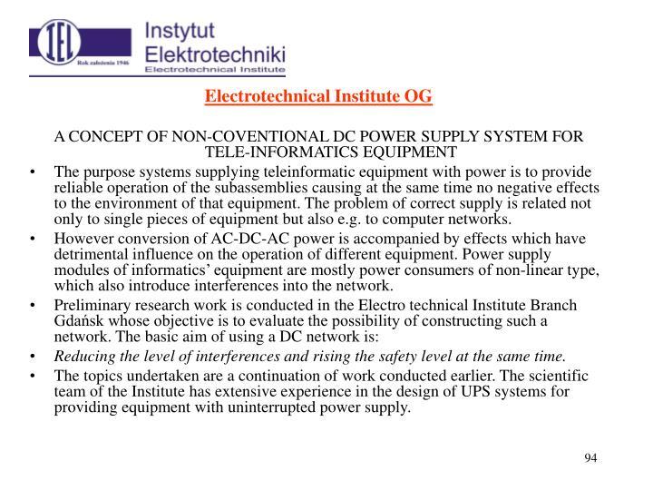 Electrotechnical Institute OG