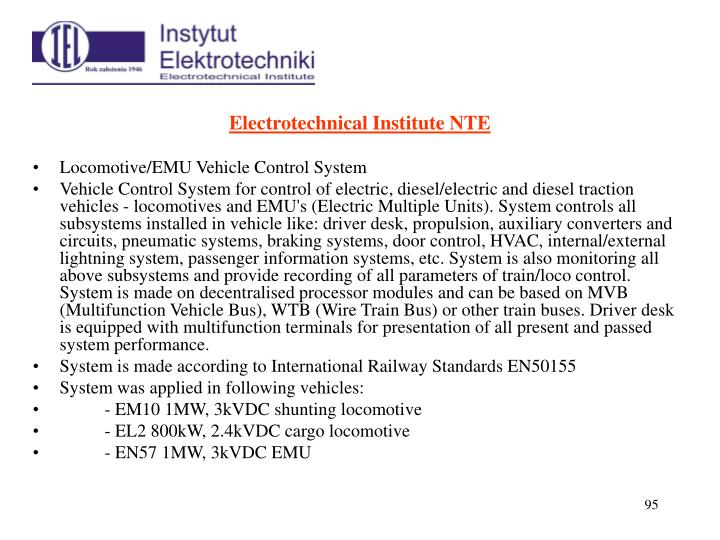Electrotechnical Institute NTE