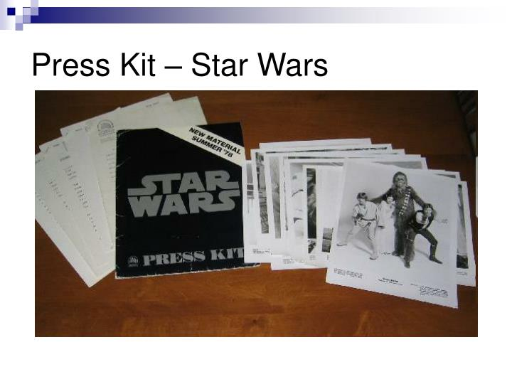 Press Kit – Star Wars