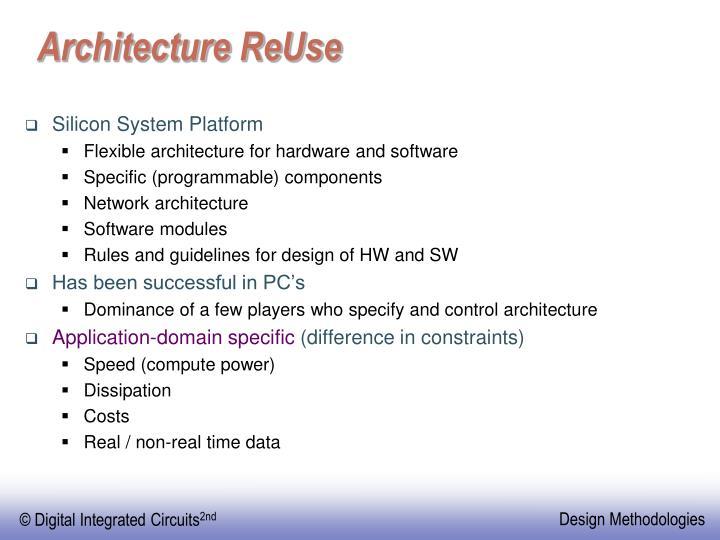 Architecture ReUse