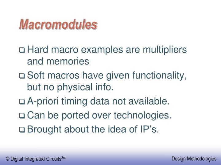 Macromodules