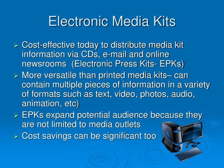 Electronic Media Kits