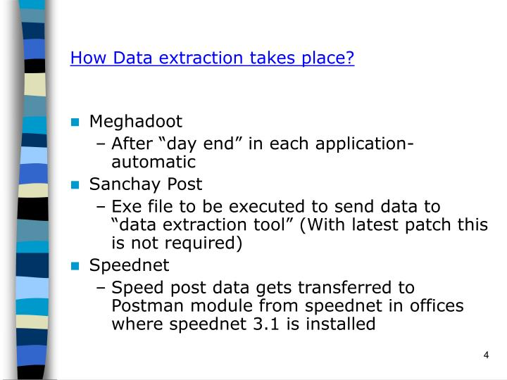 How Data extraction takes place?