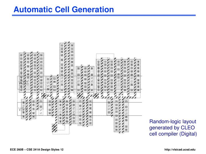Automatic Cell Generation