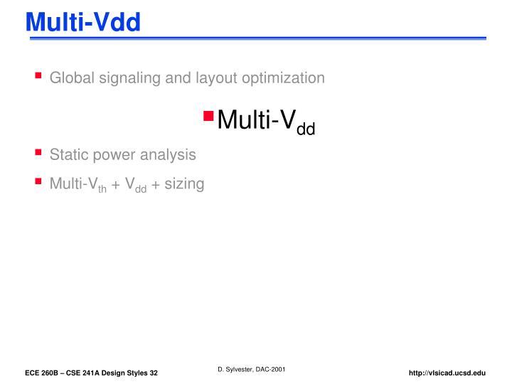 Multi-Vdd