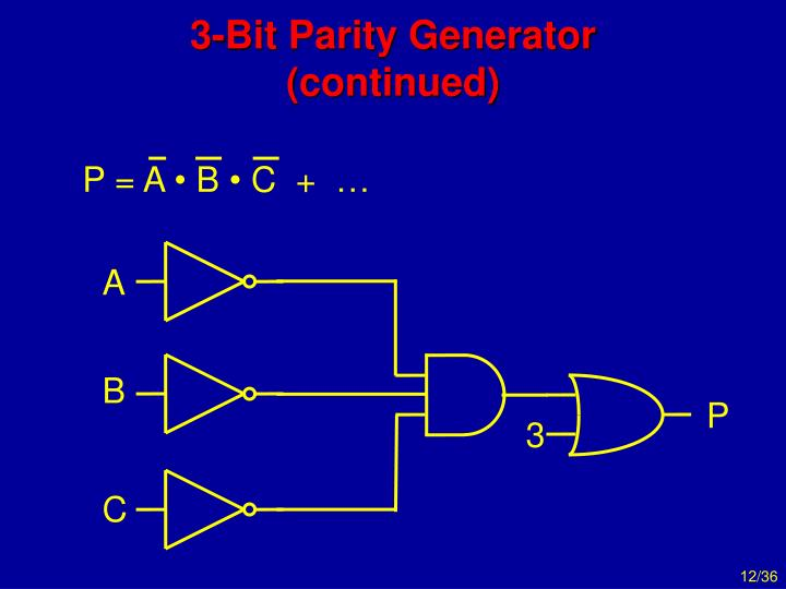 P = A • B • C  +  …