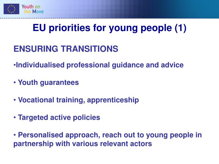 EU priorities for young people (1)