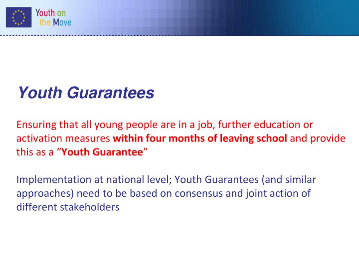 Youth Guarantees