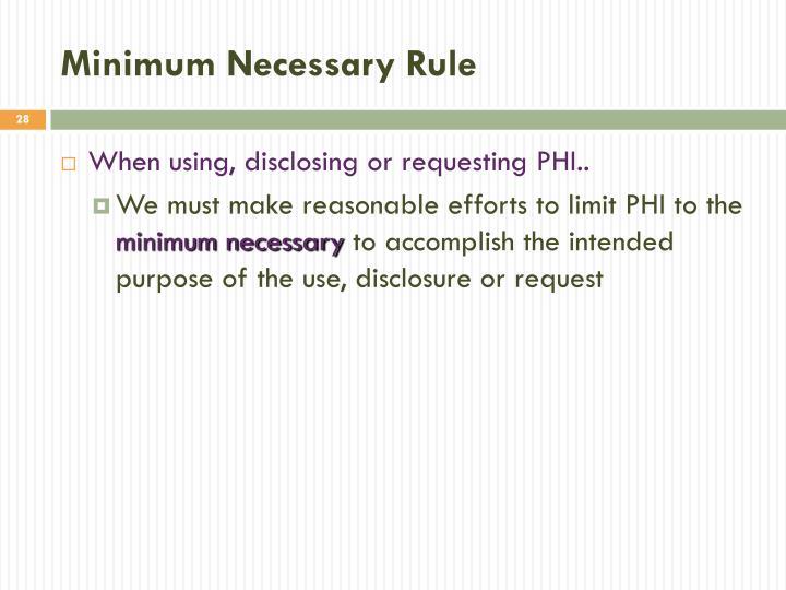 Minimum Necessary Rule