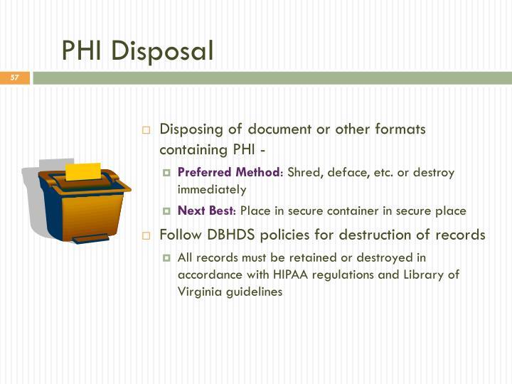 PHI Disposal