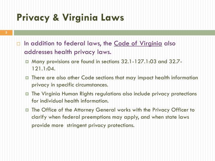 Privacy & Virginia Laws