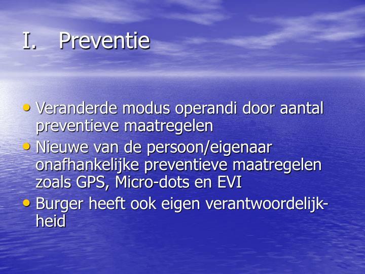I.Preventie
