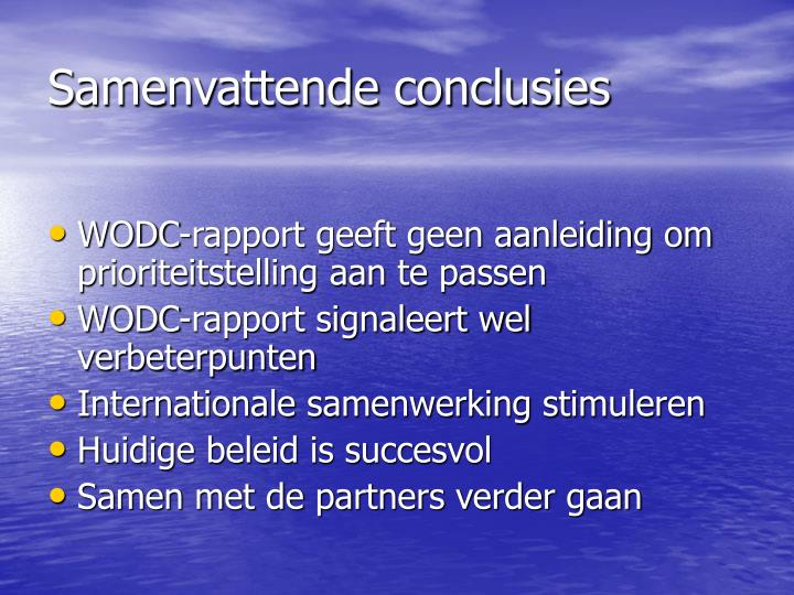 Samenvattende conclusies