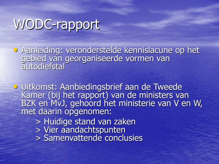 WODC-rapport