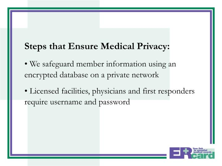 Steps that Ensure Medical Privacy: