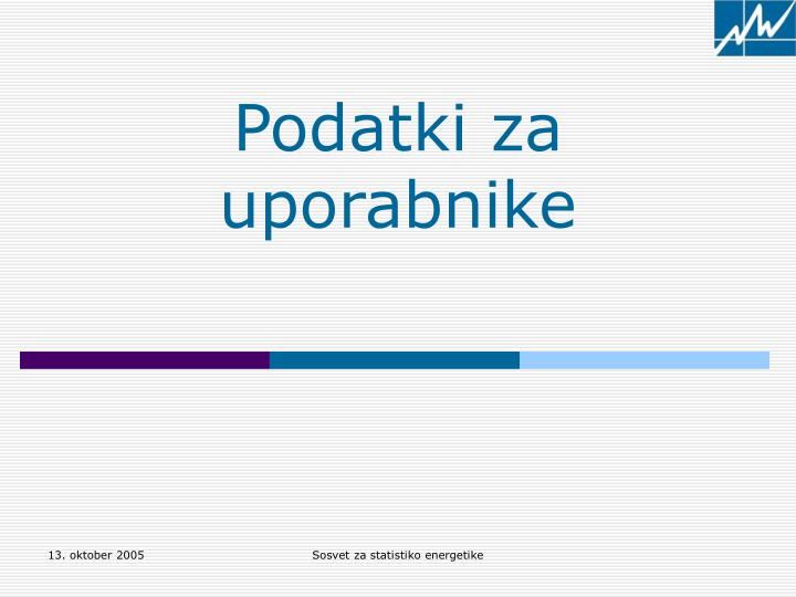 Podatki za uporabnike