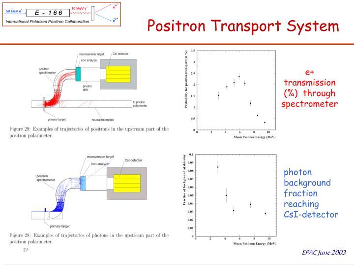 Positron Transport System