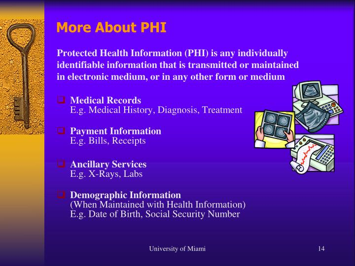 More About PHI