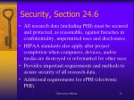 security section 24 6