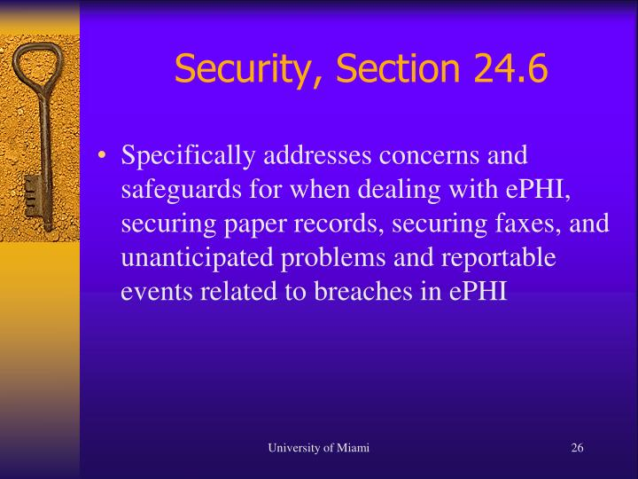 Security, Section 24.6