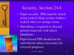 security section 24 62