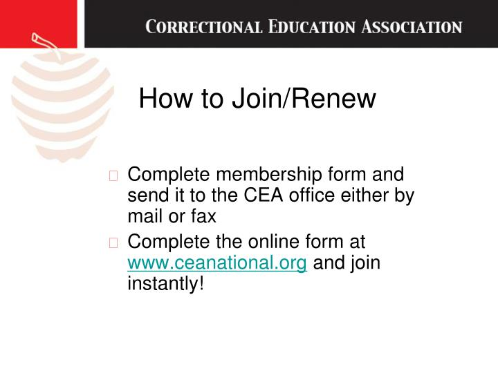How to Join/Renew