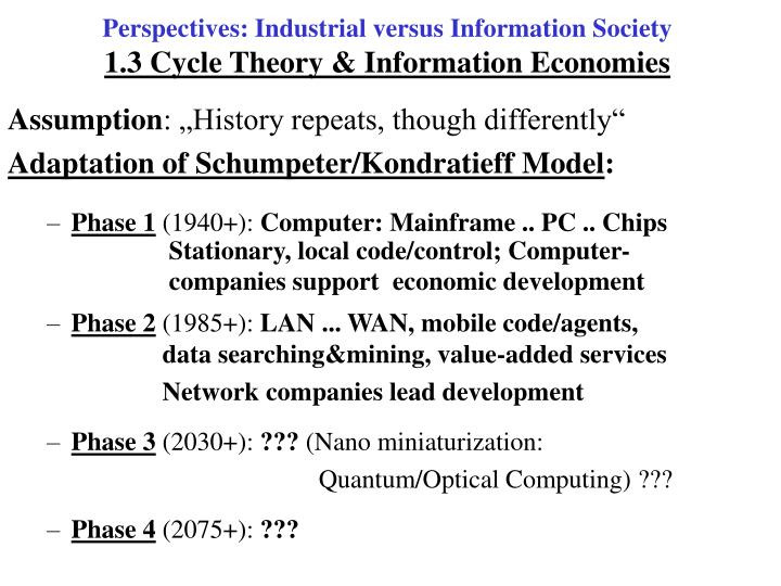 Perspectives: Industrial versus Information Society