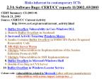 risks inherent in contemporary icts 2 3a software bugs cert cc reports 11 2002 03 2003