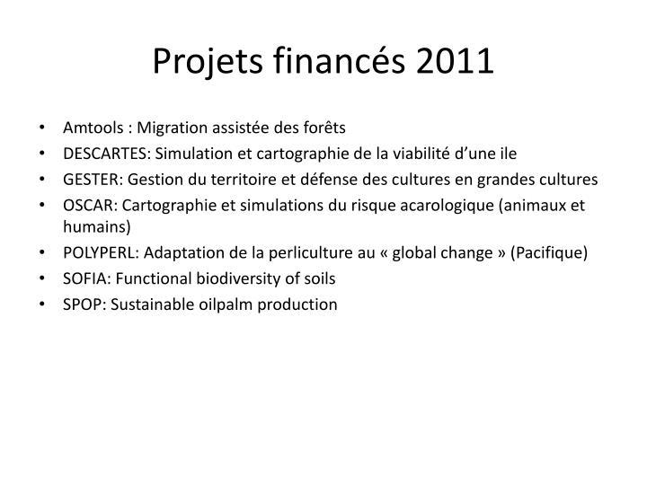 Projets financés 2011